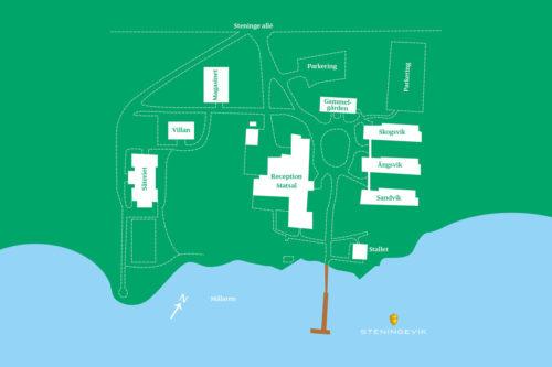 Karta över Steningevik